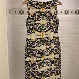 Anthropologie watercolor sheath dress by Peony